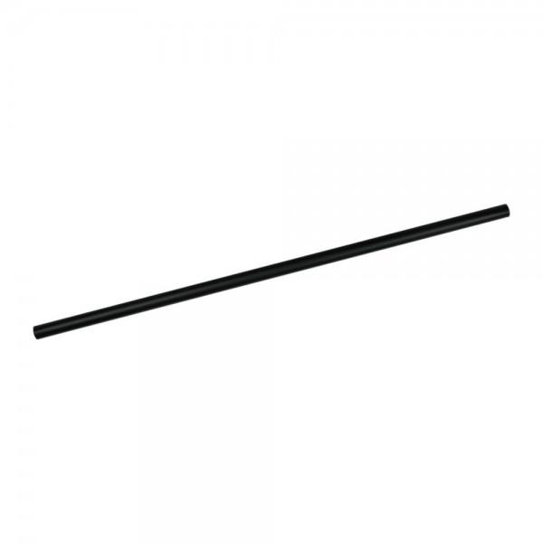 PLA-Trinkhalme 21cm, Ø 6 mm, schwarz