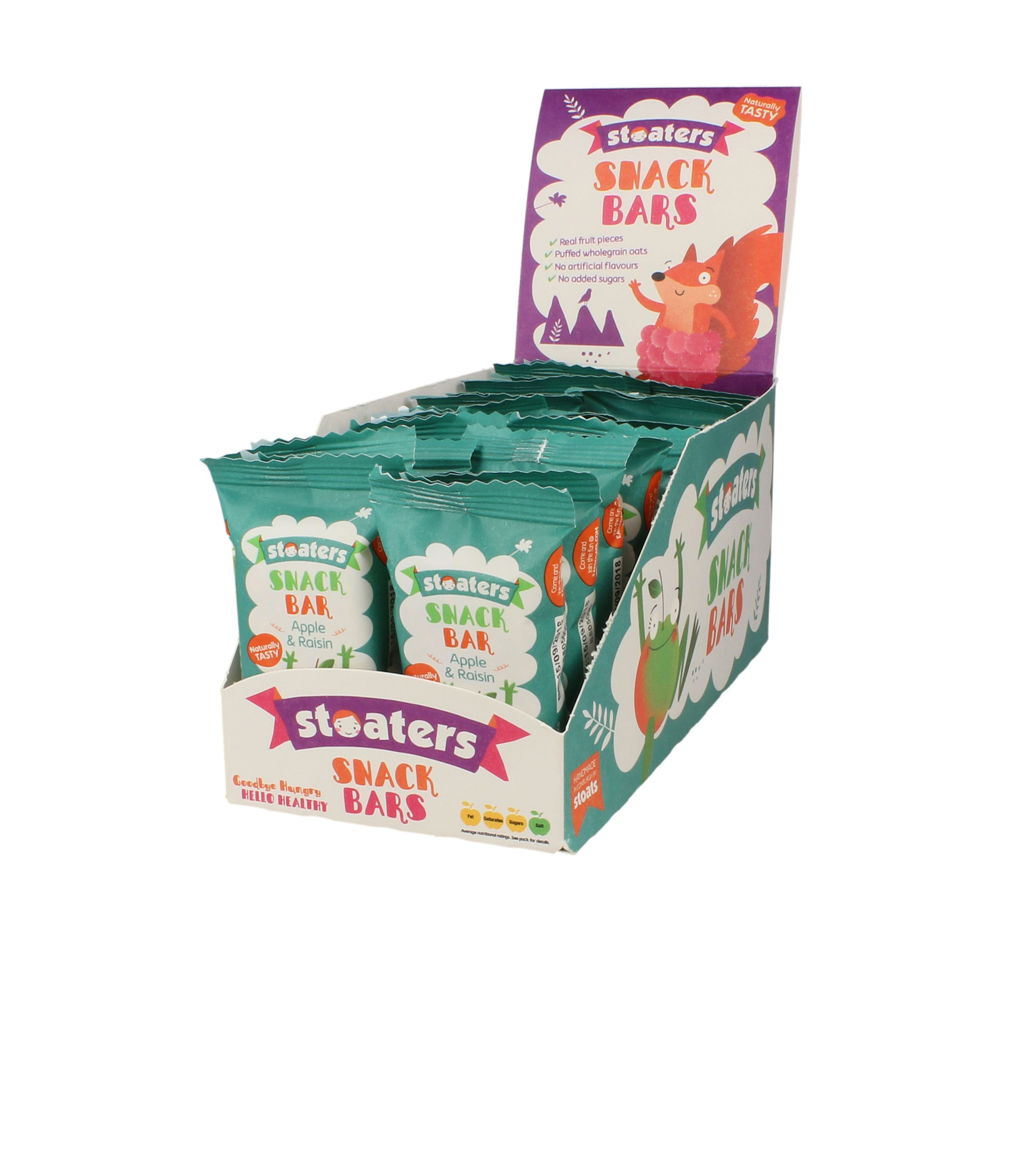 Stoats   Stoaters Mix Display Apple & Raisin   Stoats   Sortiment ...